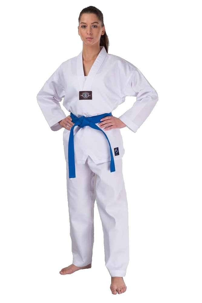 WTF Taekwondo puku aloittelijalle painatuksella - Kamppailija 81a87cd02a