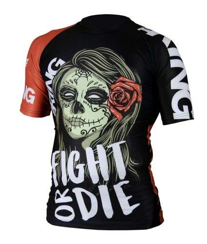 Top Ring Rashguard Fight or Die lyhythihainen