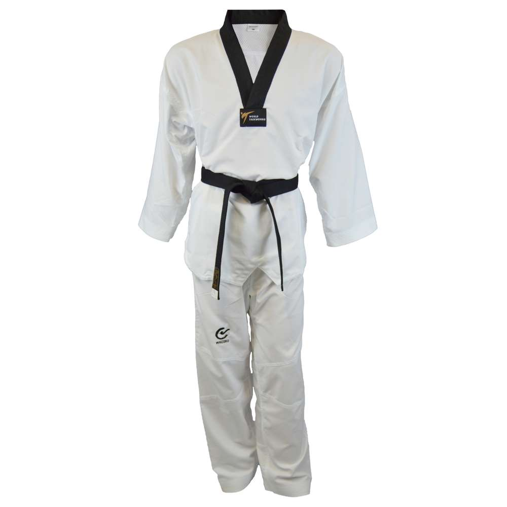 WT Taekwondo puku Fight Pro mustakaulus - Kamppailija f211eda18c